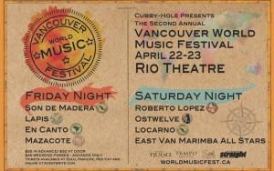 van world music festival april